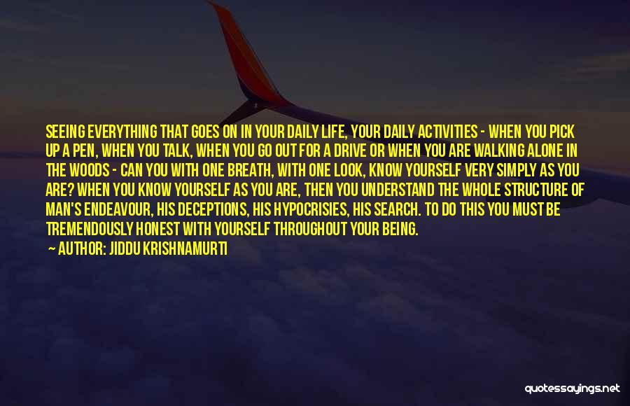 Being Honest Quotes By Jiddu Krishnamurti