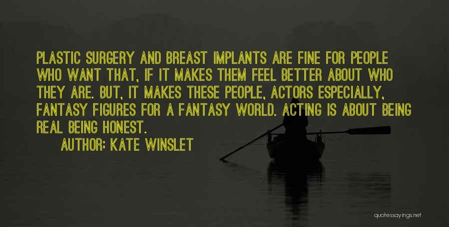Being Honest Quotes By Kate Winslet