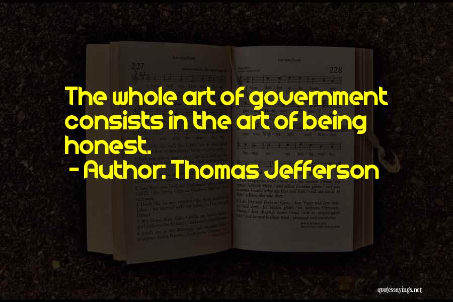 Being Honest Quotes By Thomas Jefferson