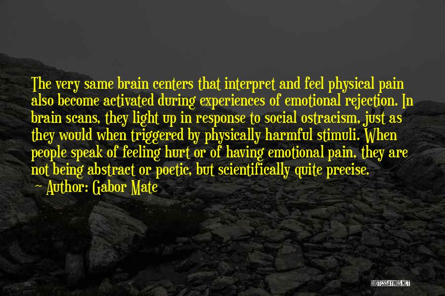 Being Hurt By Others Quotes By Gabor Mate