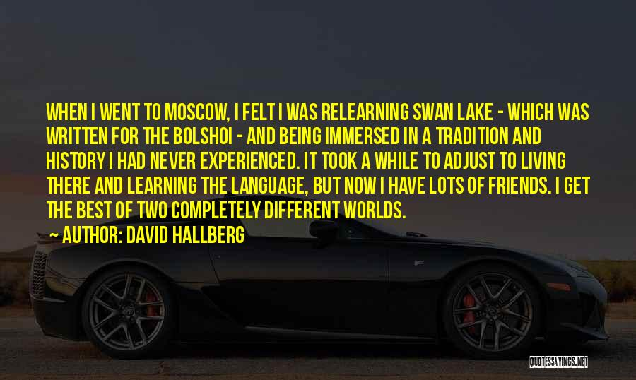 Being Immersed Quotes By David Hallberg