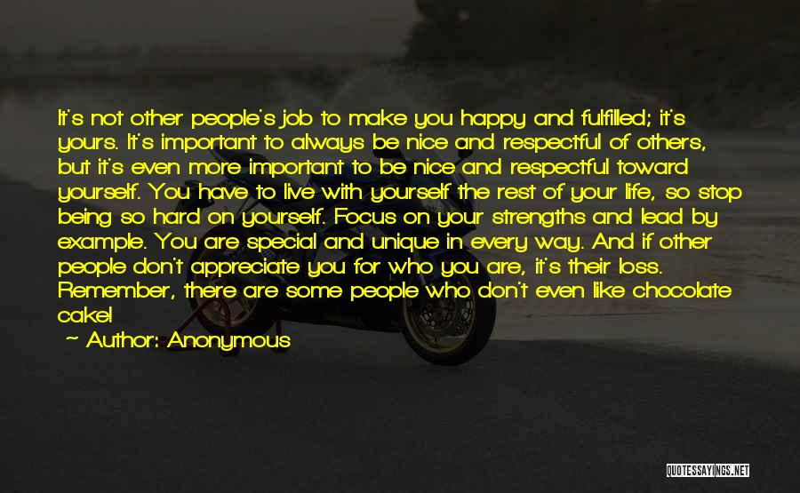 Being Important To Others Quotes By Anonymous