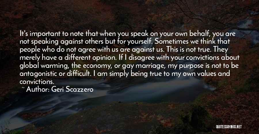 Being Important To Others Quotes By Geri Scazzero