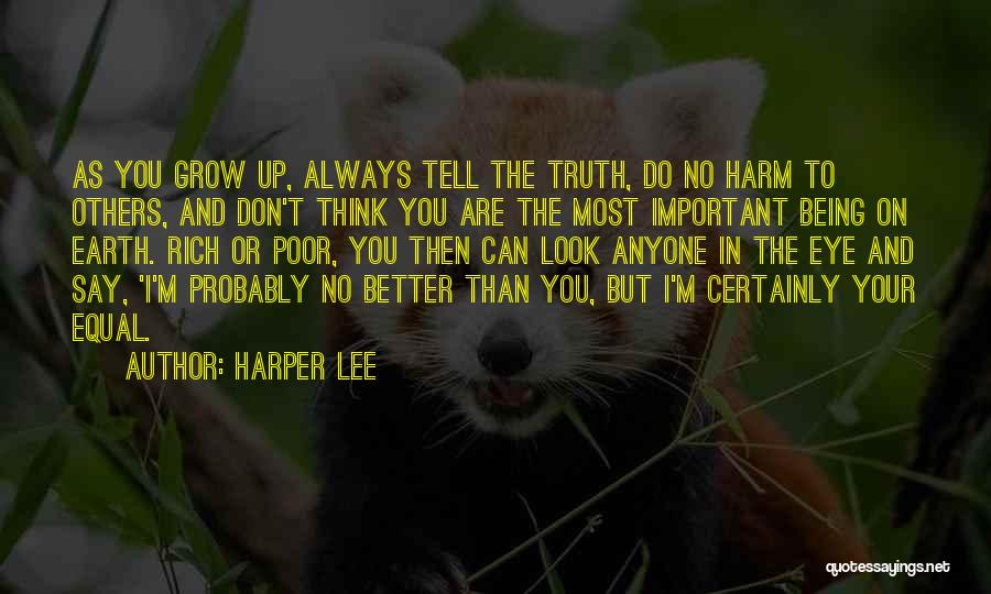Being Important To Others Quotes By Harper Lee