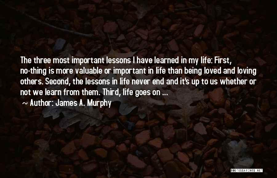 Being Important To Others Quotes By James A. Murphy