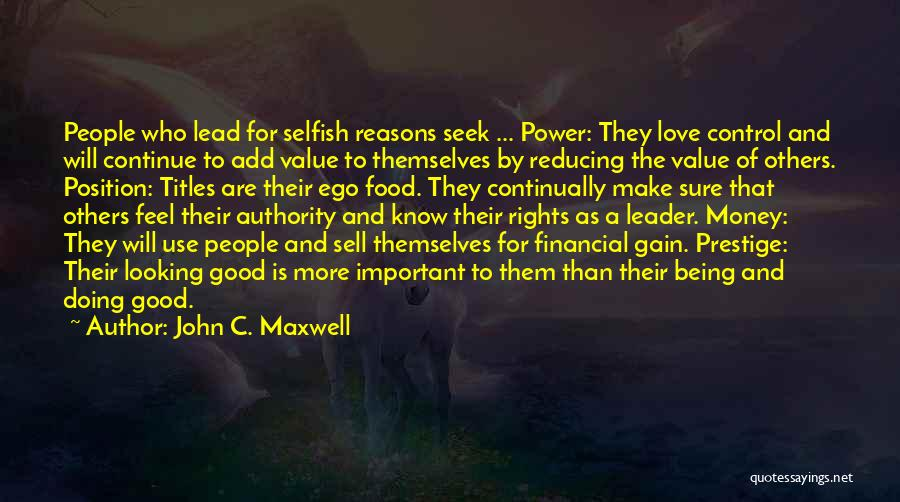 Being Important To Others Quotes By John C. Maxwell