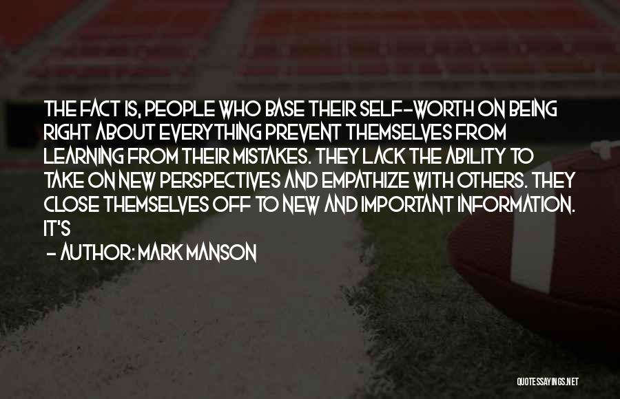 Being Important To Others Quotes By Mark Manson
