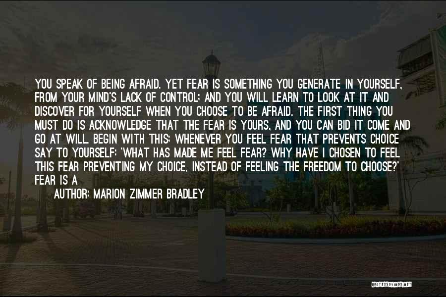 Being In Control Of Your Body Quotes By Marion Zimmer Bradley