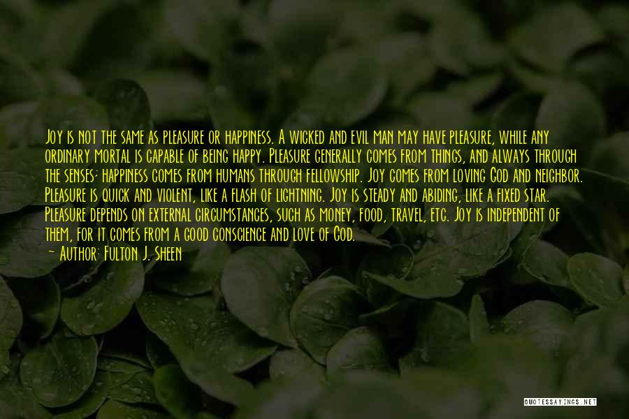 Being Independent And Happy Quotes By Fulton J. Sheen