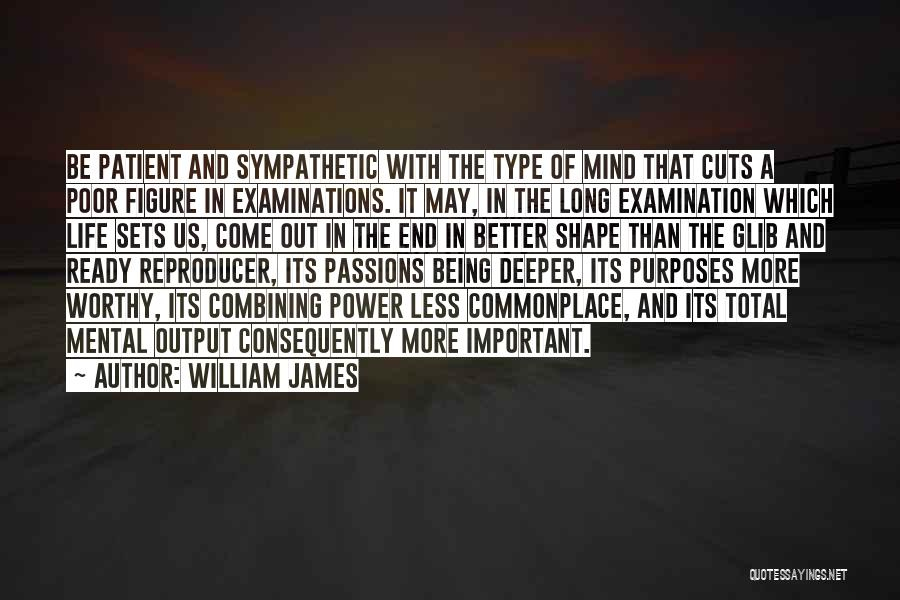Being Less Than Quotes By William James