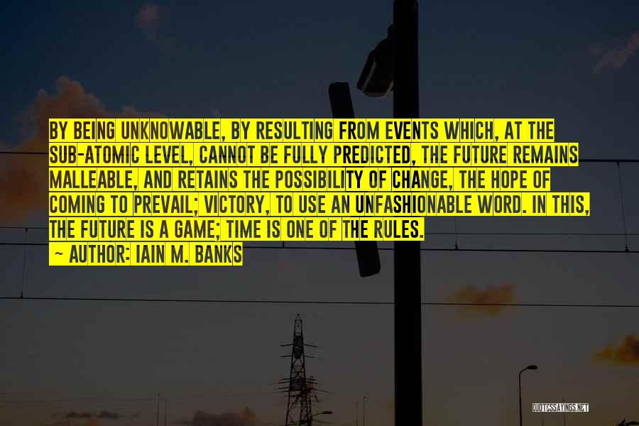 Being Malleable Quotes By Iain M. Banks