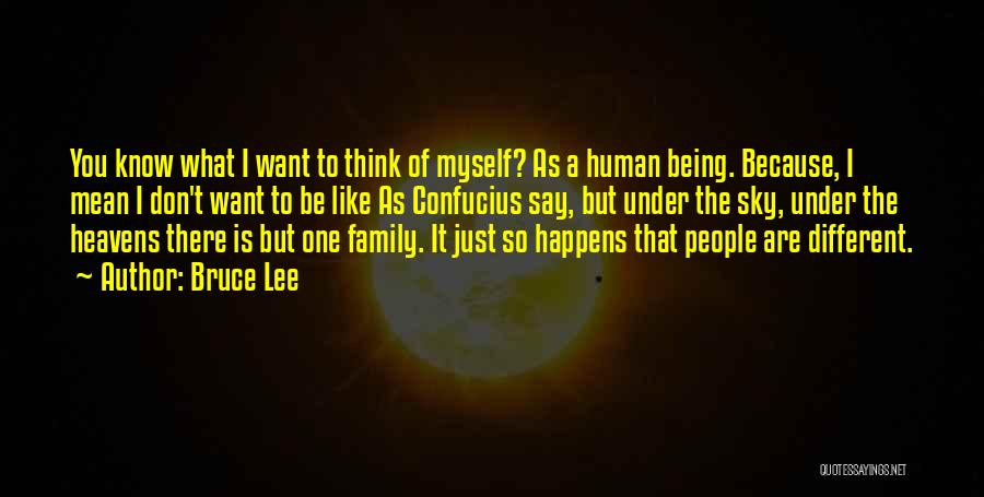 Being Mean To Family Quotes By Bruce Lee