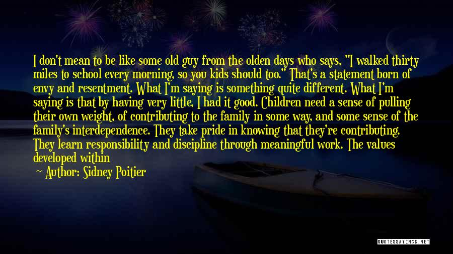 Being Mean To Family Quotes By Sidney Poitier
