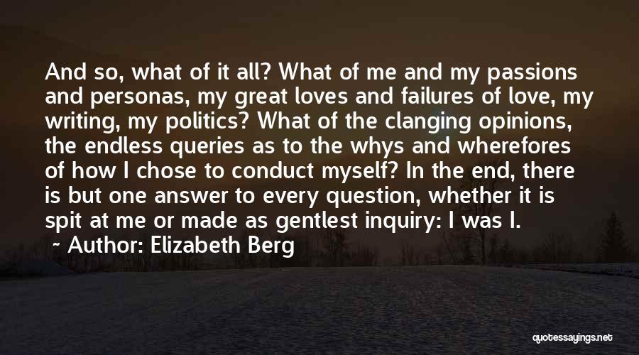Being My Best Self Quotes By Elizabeth Berg
