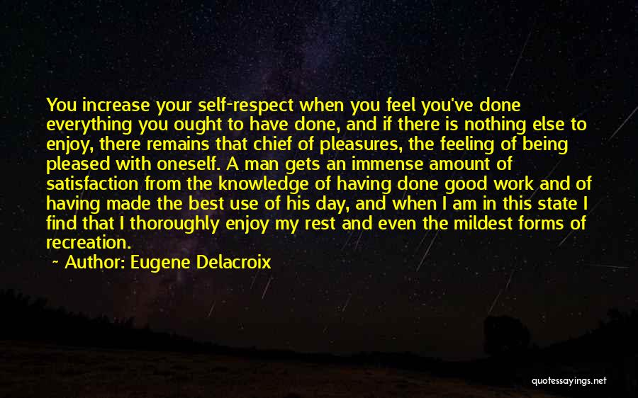 Being My Best Self Quotes By Eugene Delacroix