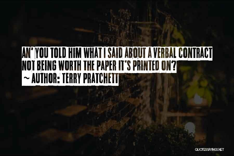 Being Non Verbal Quotes By Terry Pratchett