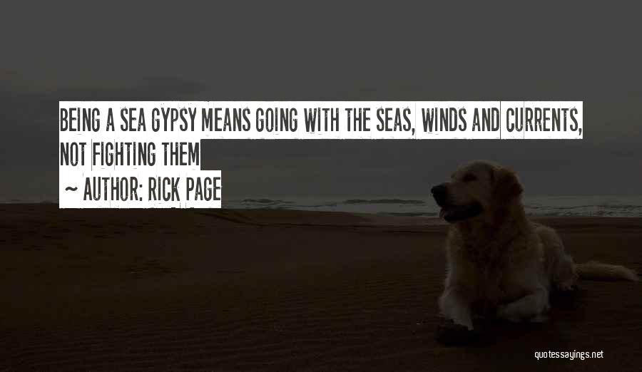 Being Out At Sea Quotes By Rick Page