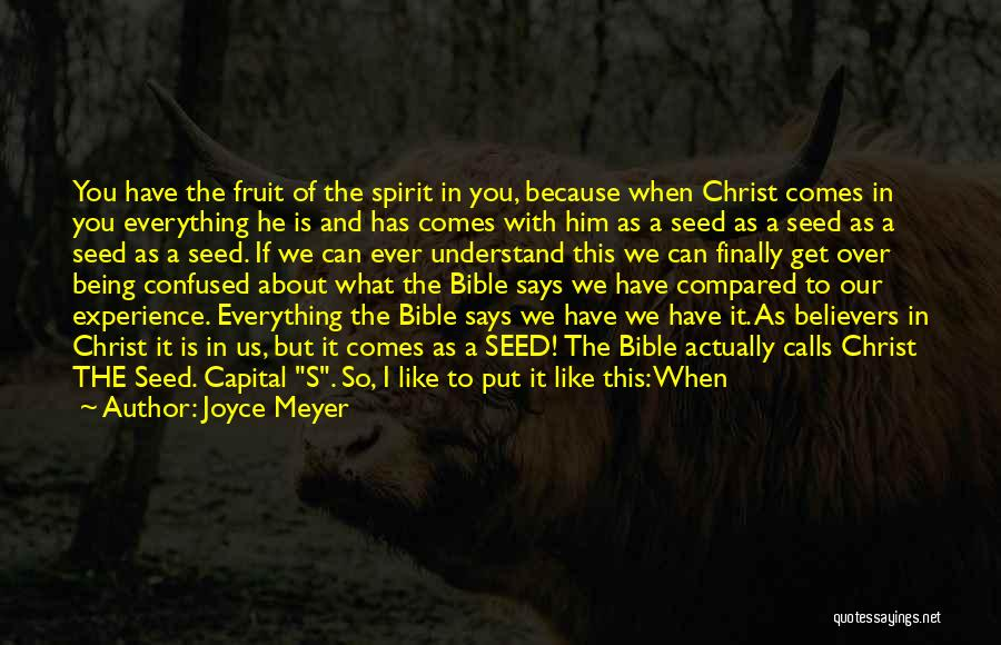 Being Over Him Quotes By Joyce Meyer