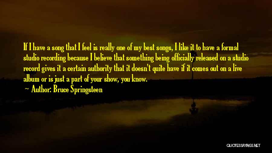 Being Part Of Something Quotes By Bruce Springsteen
