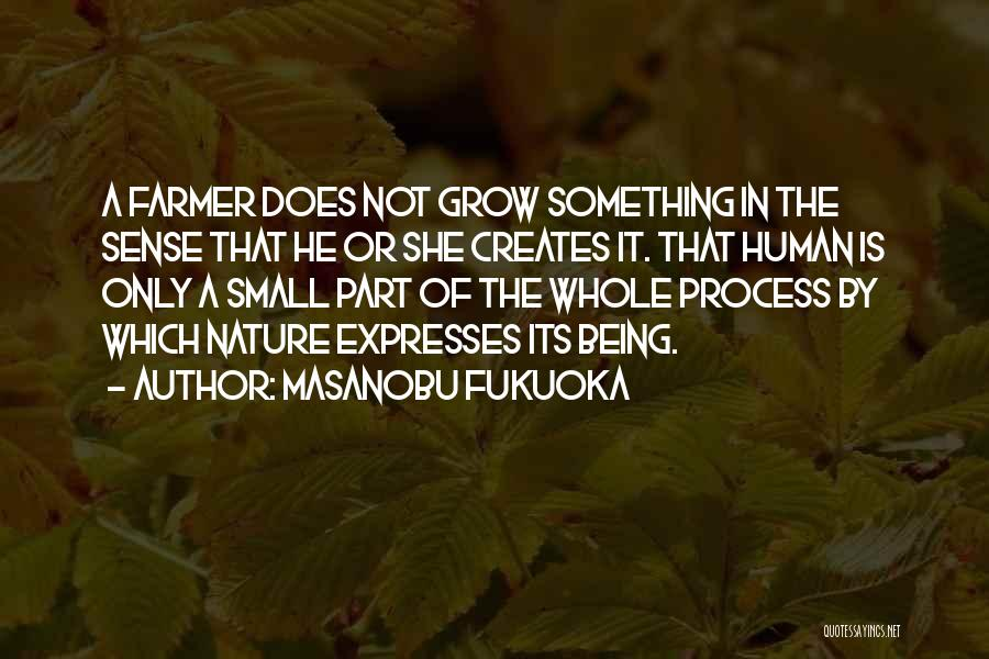 Being Part Of Something Quotes By Masanobu Fukuoka