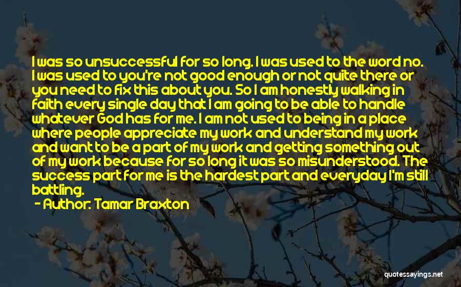 Being Part Of Something Quotes By Tamar Braxton