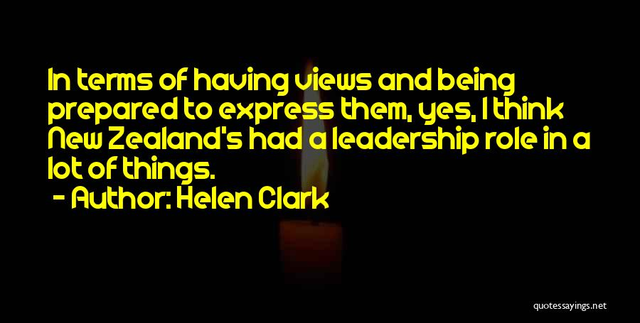 Being Prepared Quotes By Helen Clark