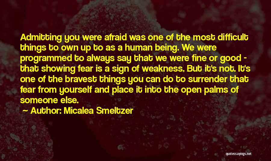 Being Programmed Quotes By Micalea Smeltzer