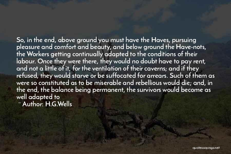 Being Refused Quotes By H.G.Wells