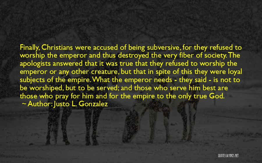 Being Refused Quotes By Justo L. Gonzalez