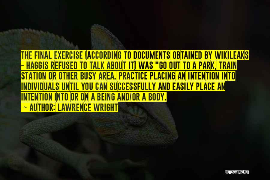 Being Refused Quotes By Lawrence Wright