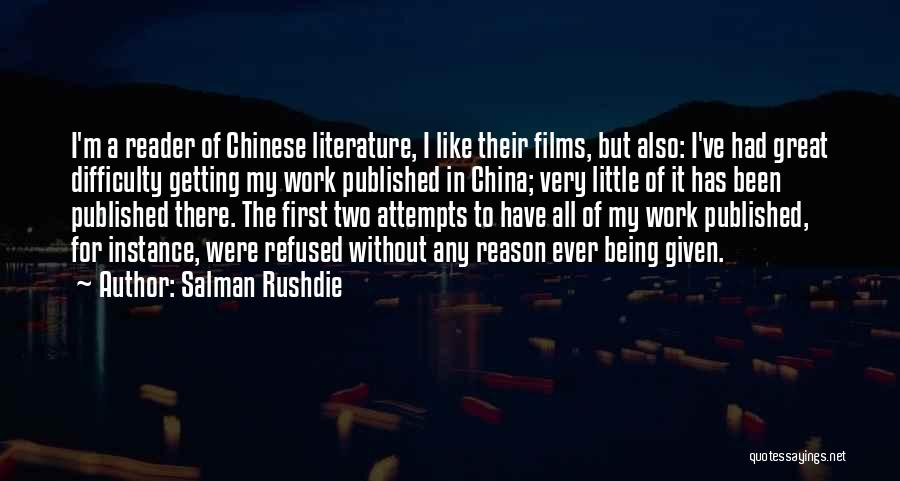 Being Refused Quotes By Salman Rushdie