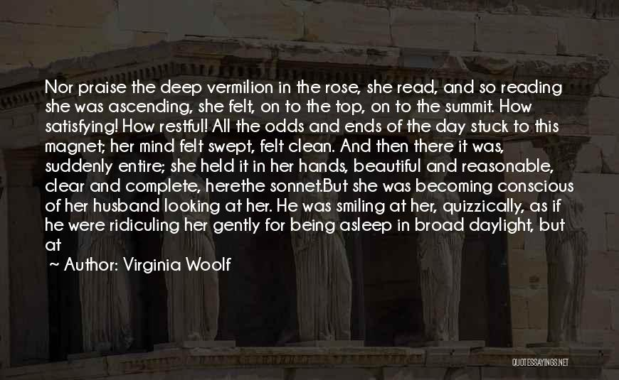 Being Sad But Smiling Quotes By Virginia Woolf