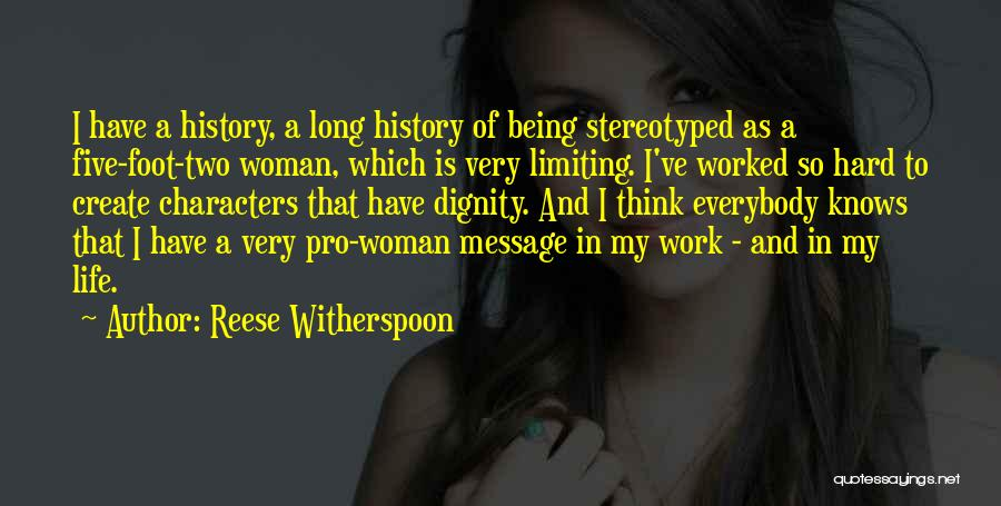Being Stereotyped Quotes By Reese Witherspoon