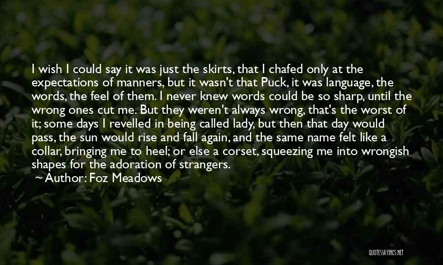 Being Strangers Quotes By Foz Meadows
