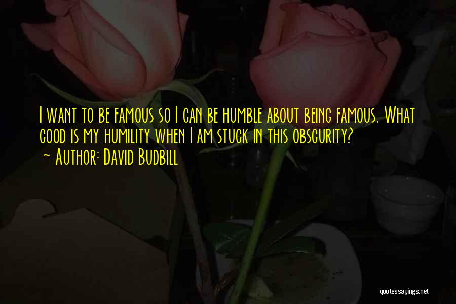 Being Stuck On Your Ex Quotes By David Budbill