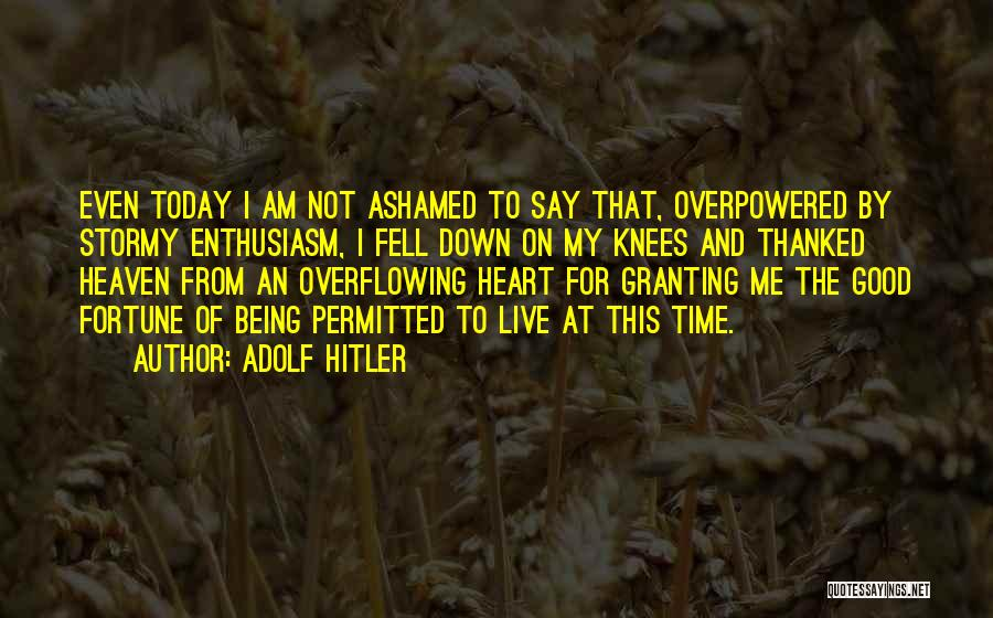 Being Thanked Quotes By Adolf Hitler