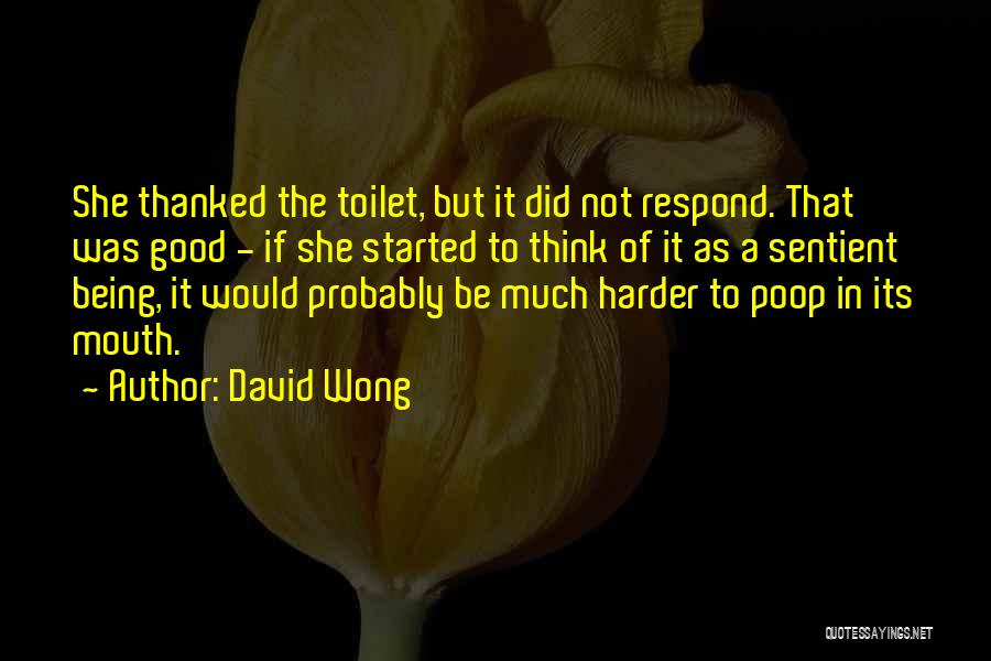 Being Thanked Quotes By David Wong