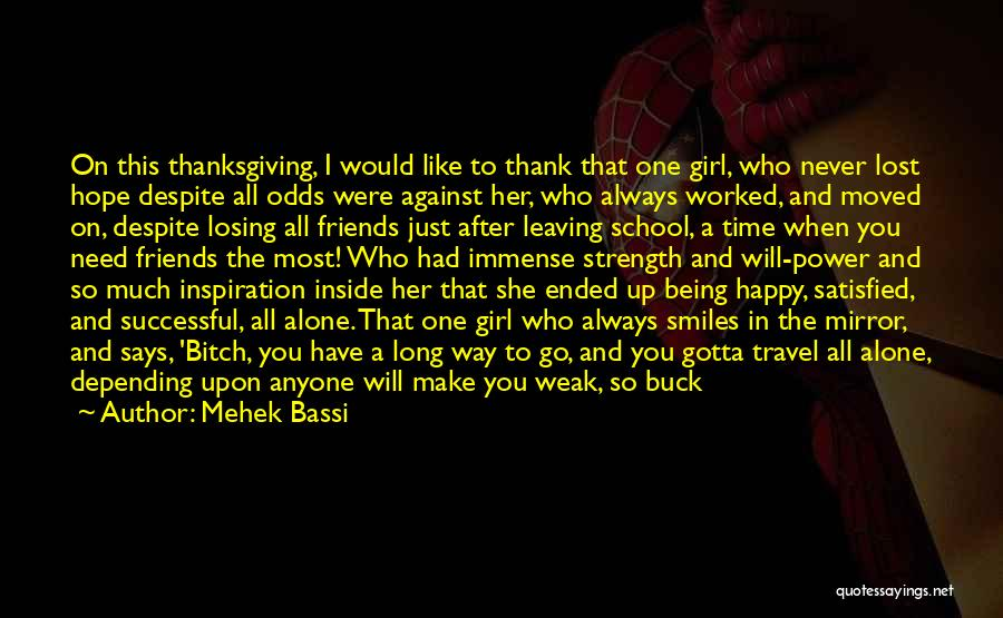 Being Thanked Quotes By Mehek Bassi