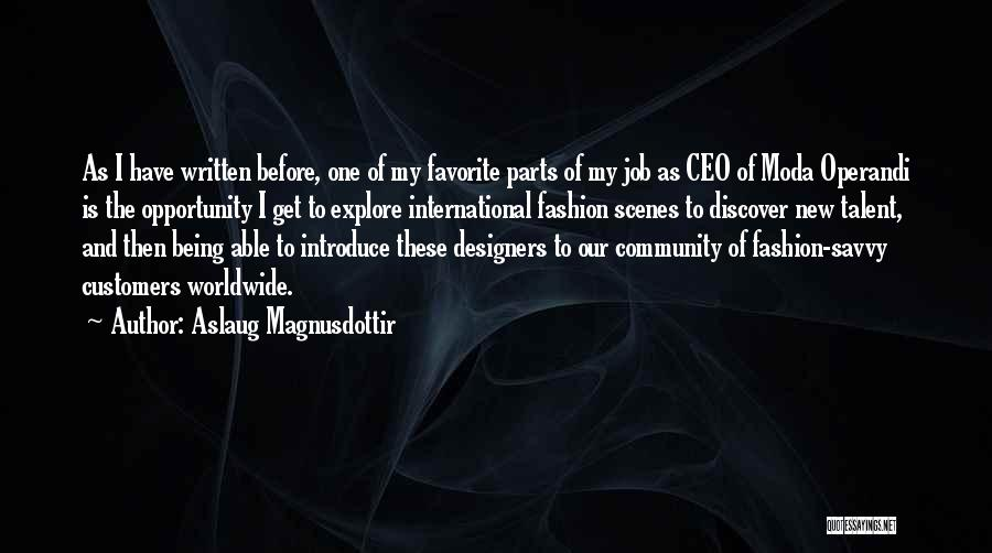 Being The Best At Your Job Quotes By Aslaug Magnusdottir