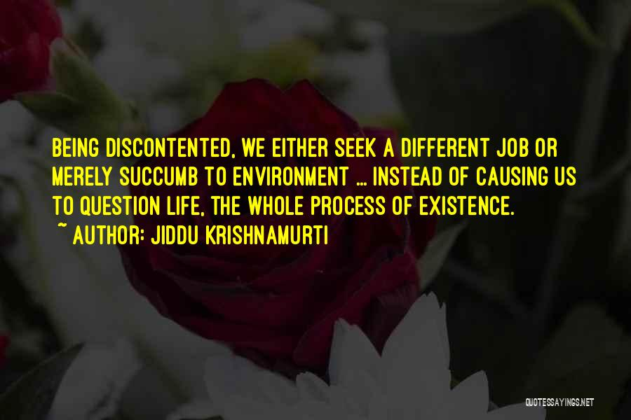 Being The Best At Your Job Quotes By Jiddu Krishnamurti