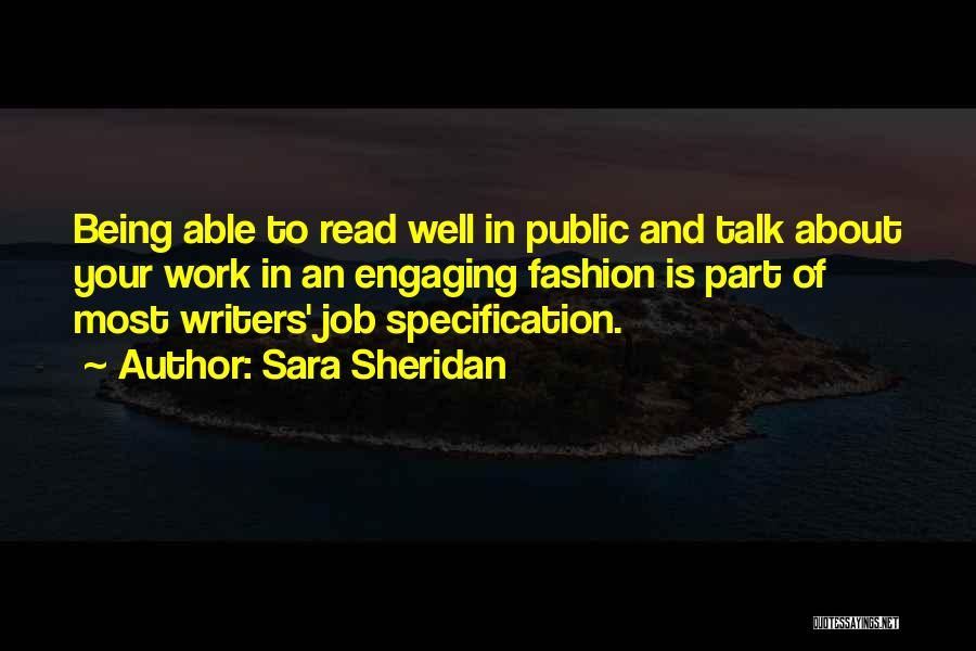 Being The Best At Your Job Quotes By Sara Sheridan