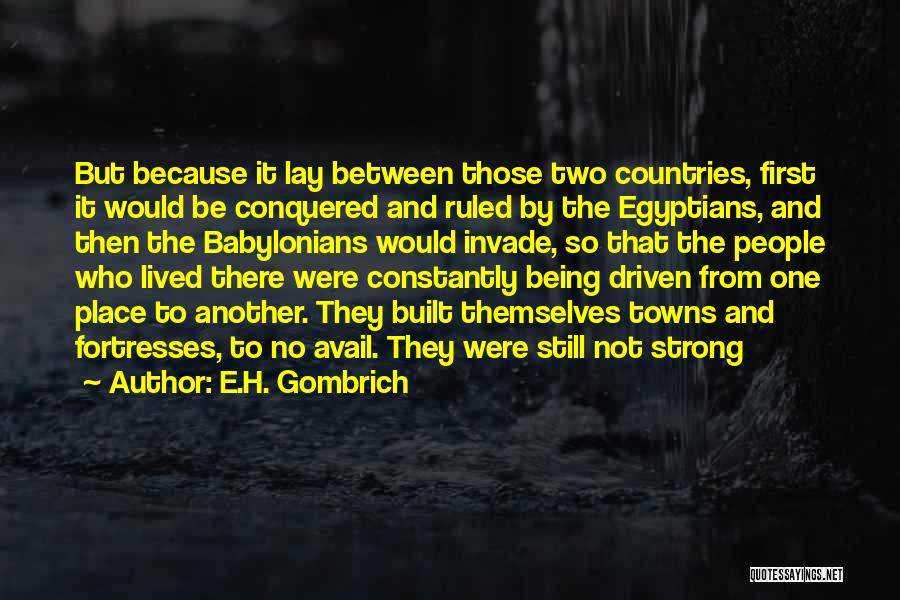 Being The Strong One Quotes By E.H. Gombrich