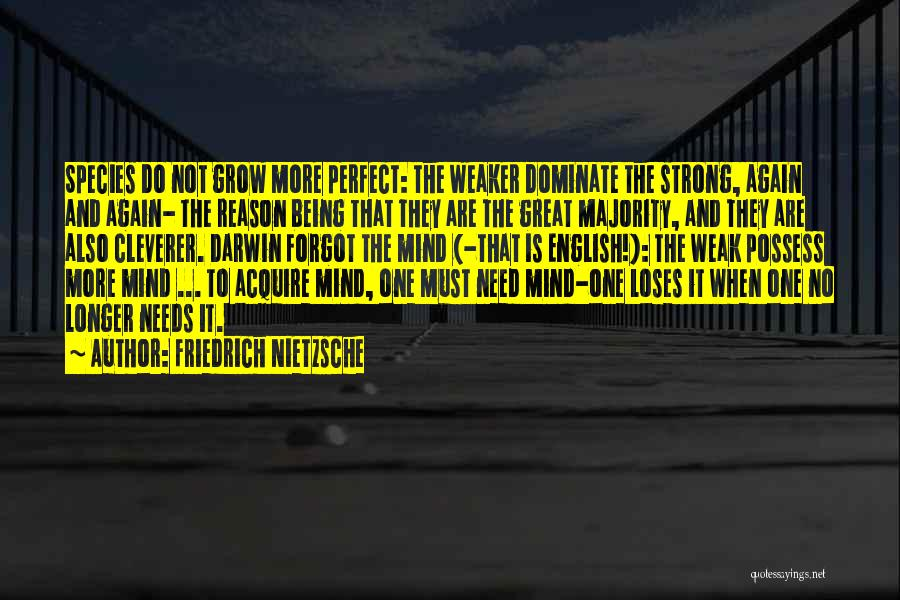 Being The Strong One Quotes By Friedrich Nietzsche