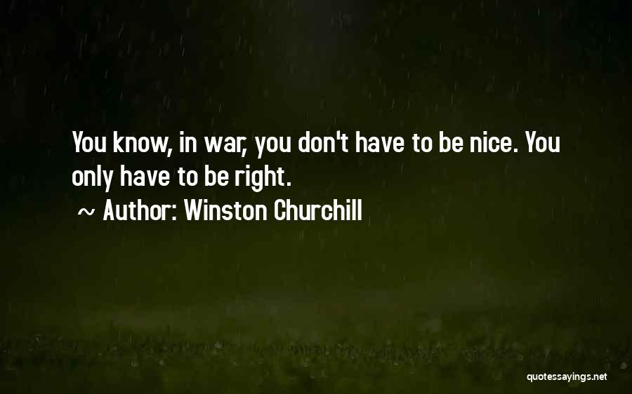 Being Too Nice To Others Quotes By Winston Churchill