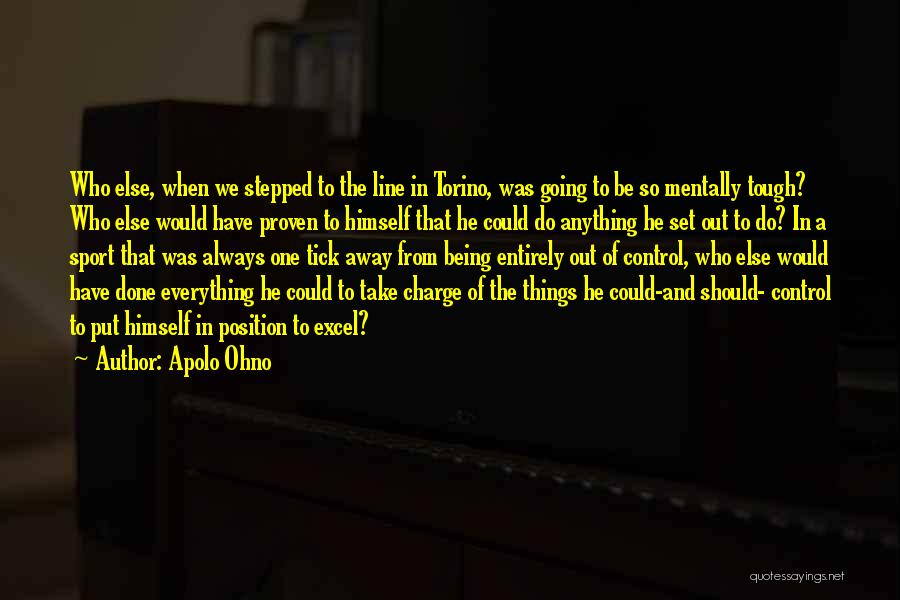 Being Tough In Sports Quotes By Apolo Ohno