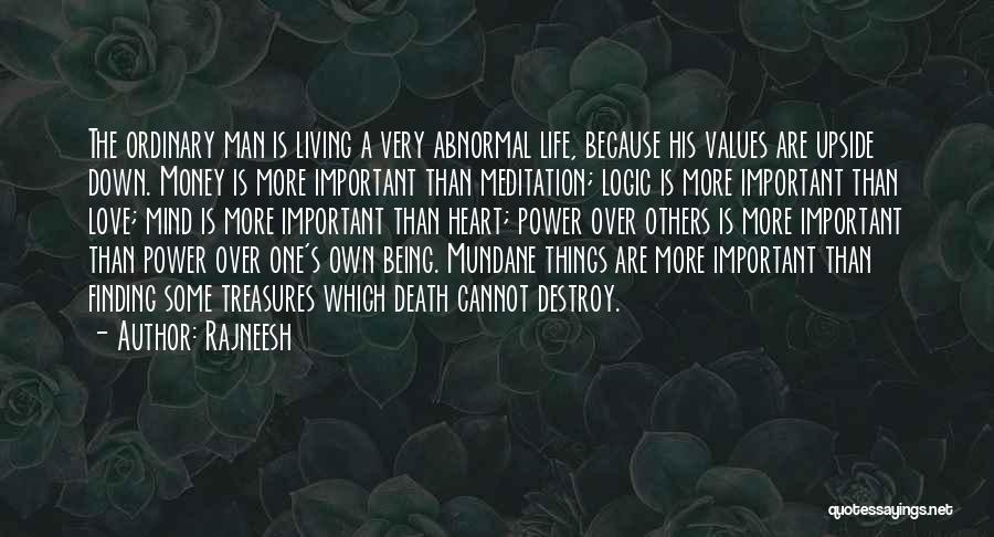 Being Upside Down In Life Quotes By Rajneesh