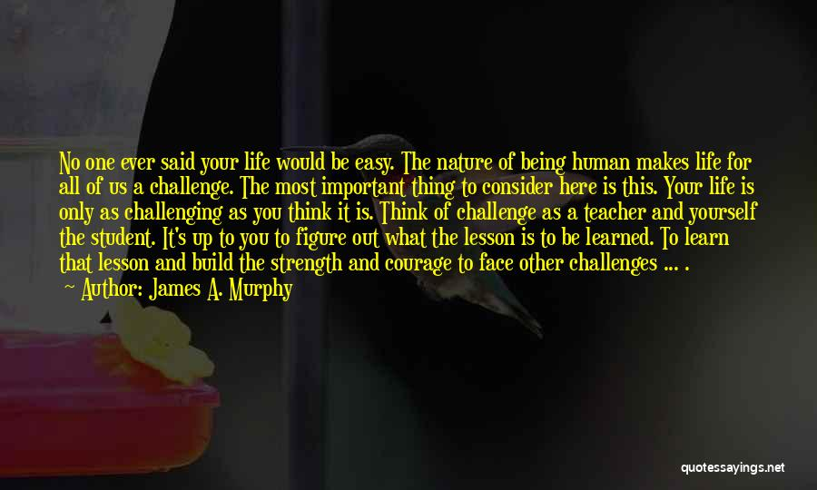 Being Your One And Only Quotes By James A. Murphy