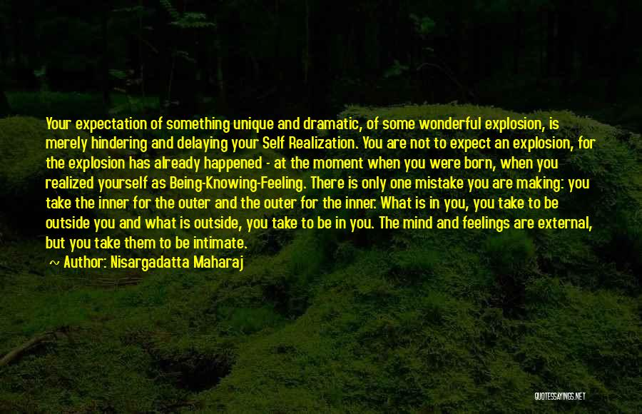 Being Your One And Only Quotes By Nisargadatta Maharaj