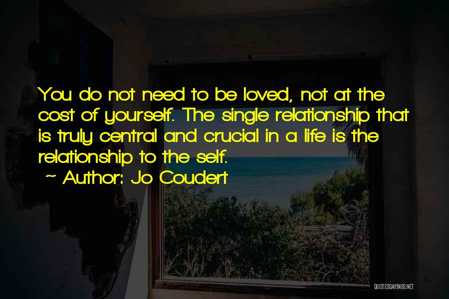 Being Yourself In A Relationship Quotes By Jo Coudert