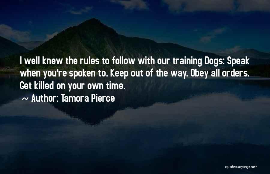 Beka Cooper Quotes By Tamora Pierce